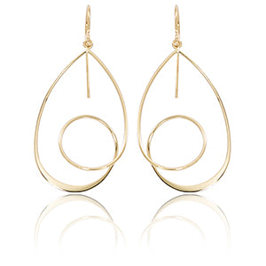 14k Yellow Gold Twist Hoop Earrings