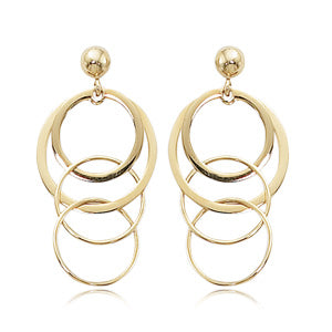 14k Yellow Gold Multi-Link Drop Earrings