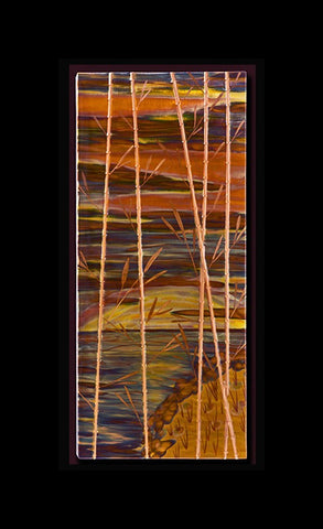 "Copper ""Bamboo"" 14"" x 32"" x 2"""