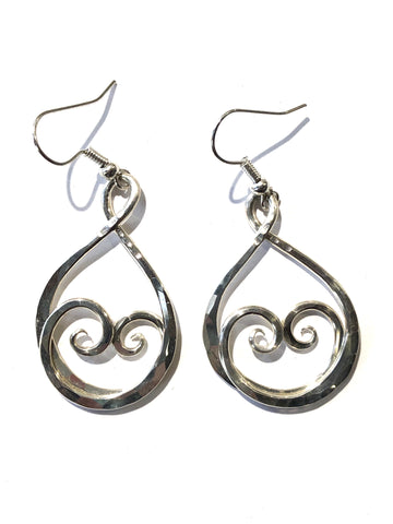 Sterling Silver Hand-Hammered Earrings