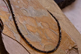 Black Diamond Necklace 18""