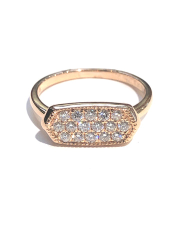14k Rose Gold Pave' Diamond Ring