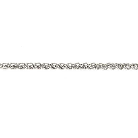 "14k White Gold 16"" 1.3mm Wheat Chain"