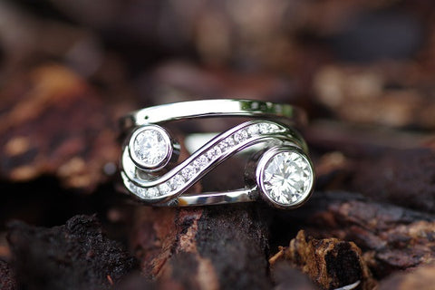 (Design ideas) 14k White Gold Diamond Ring