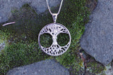 14k White Gold Mother Earth Pendant