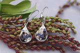 14k White Gold Diamond and Blue Sapphire Earrings