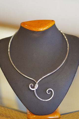 Hand Hammered Sterling Silver Collar