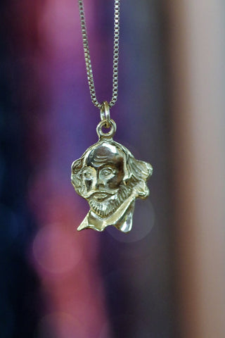 14k Yellow Gold Shakespeare Pendant