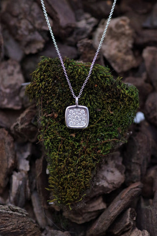 14k White Gold and Diamond Pave Pendant