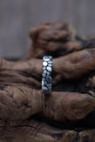 14k White Gold and Diamond Pebble Ring