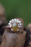 14K Rose Gold Raw Yellow Diamond Ring