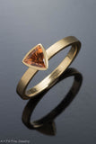 18k Yellow Gold Trillion Golden Sapphire Ring