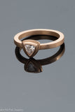 14k Rose Gold Trillion Cut Diamond Ring