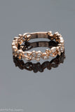 14k Rose Gold and Diamond Filigree Ring