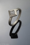 14k White Gold and Princess Cut Diamond Ring
