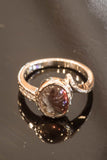 14k White Gold Andesine and Diamond Ring