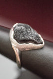 14k White Gold and Druzy Ring