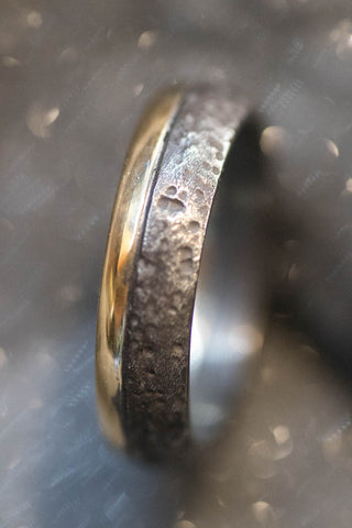 Sterling and 18k Yellow Gold Ring