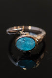 14k Rose Gold Apatite and Diamond Ring