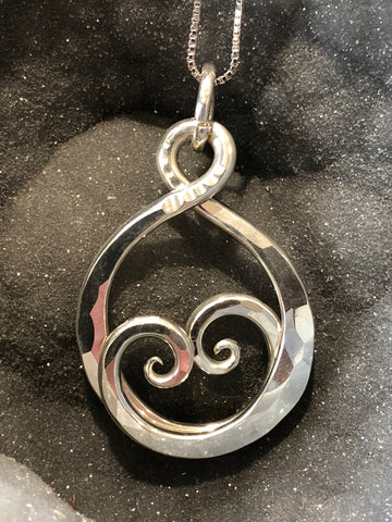 Sterling Silver Hammered Wrap Pendant
