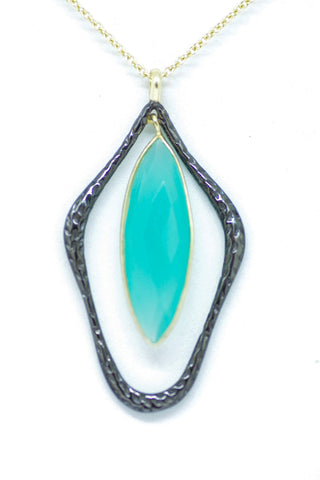 Sterling Silver and Chalcedony Pendant