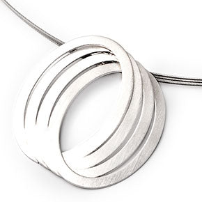 Sterling Silver Triple Oval Pendant