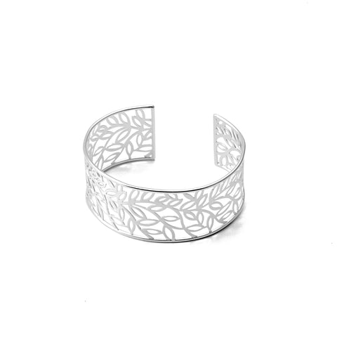 Sterling Silver Leaf Collage Bracelet