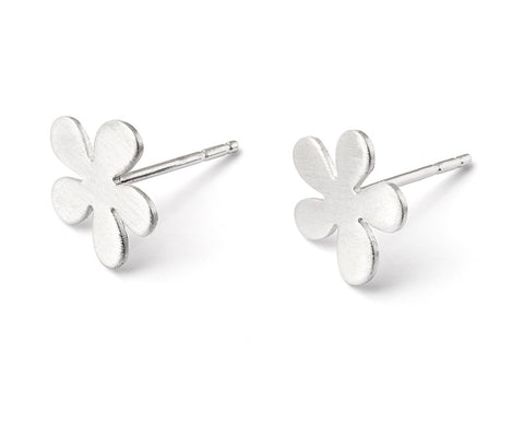 Sterling Silver Medium Buttercup Earrings