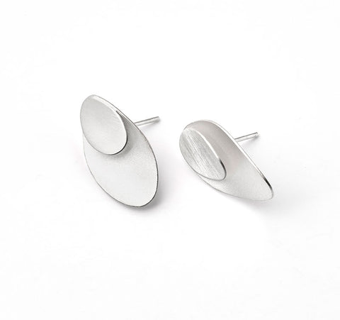 Sterling Silver Scales Post Earrings