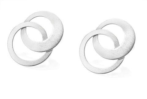 Sterling Silver Endless Circle Post Earrings
