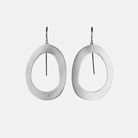Sterling Silver Stepping Stone Earrings