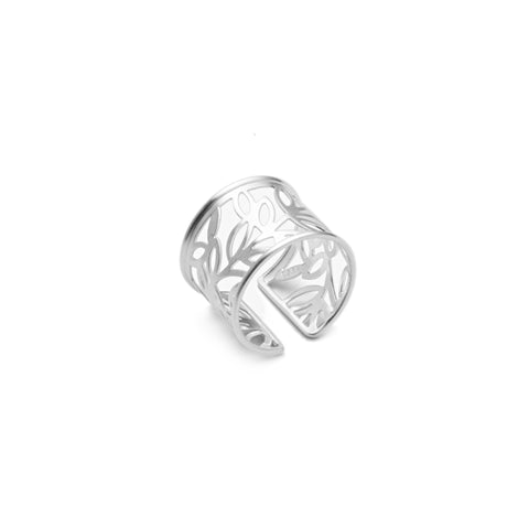 Sterling Silver Leaves Collage Ring