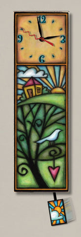 "House/Bird Clock 4.5""x14.5"""