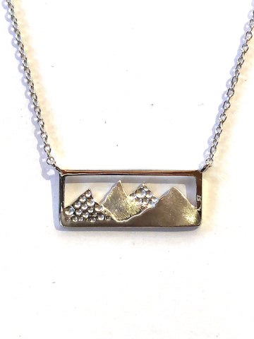 Sterling Silver Mountain Pendant