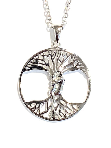 Sterling Silver Couple Tree Pendant