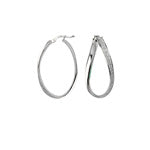 Sterling Silver Glitter Twist Hoops