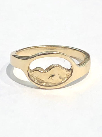 14k Yellow Gold Mountain Ring