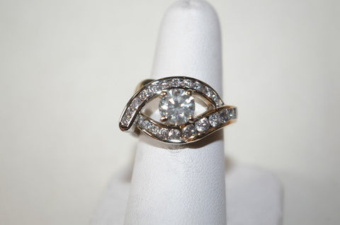 (Design ideas) 14k Yellow Gold Custom Diamond Ring