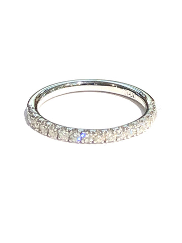 14k White Gold .50ct Diamond Anniversary Band