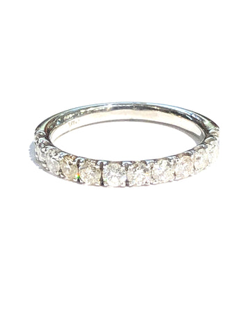 14k White Gold .35ct Diamond Anniversary Band