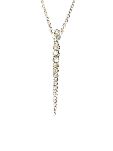 18k White Gold Graduated Spike Pendant
