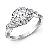 14k White Gold Diamond Ring (Mounting)