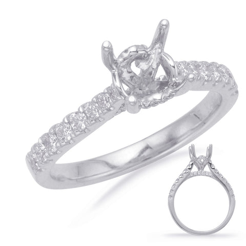 14k White Gold Mounting