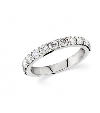 14k White Gold Diamond Anniversary Band .75 ctw