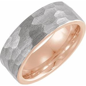 18k Rose Gold and Tungsten Ring