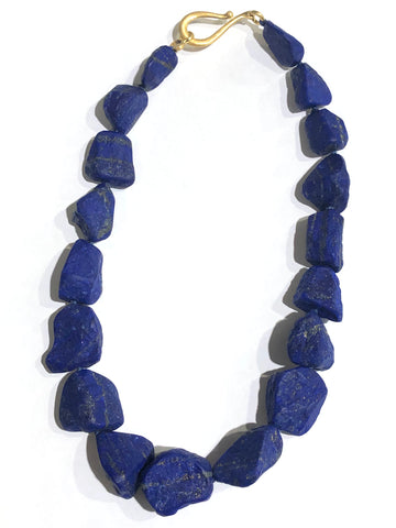 Large Graduated Lapis Necklace