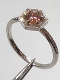 14k White Gold Oregon Sunstone Ring