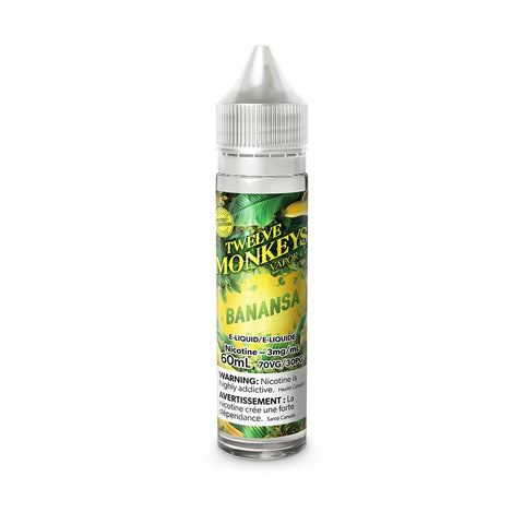 Twelve Monkeys - Banansa (60mL) vape shop vape store wii vape gta york toronto ontario canada best price cheap #1  shop number one shop in toronto Herbal Vape dry herb concentrates Shatter Dabs Weed dash vapes Marijuana weed