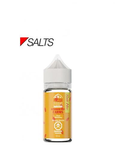 STRASTRAWBERRY FARMS SALT NIC 30ML BY FRESH FARMS E-LIQUID vape shop vape store wii vape gta york toronto ontario canada best price cheap #1  shop number one shop in toronto Herbal Vape dry herb concentrates Shatter Dabs Weed Marijuana weed