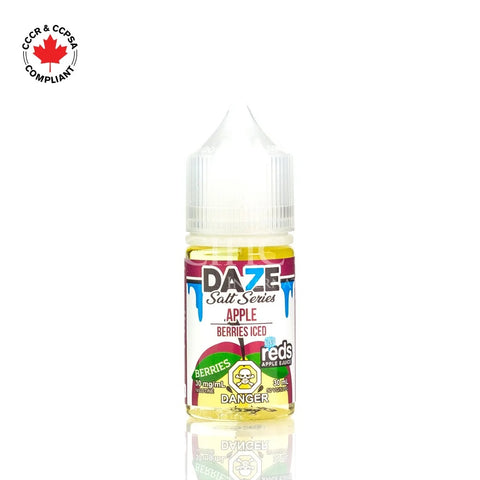 7 Daze - Salt Nic Series Berries Iced (30mL) vape shop vape store wii vape gta york toronto ontario canada best price cheap #1  shop number one shop in toronto Herbal Vape dry herb concentrates Shatter Dabs Weed Marijuana weed